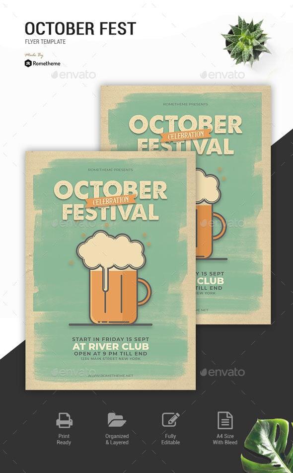 October Festival Flyer Vol. 01 - Events Flyers
