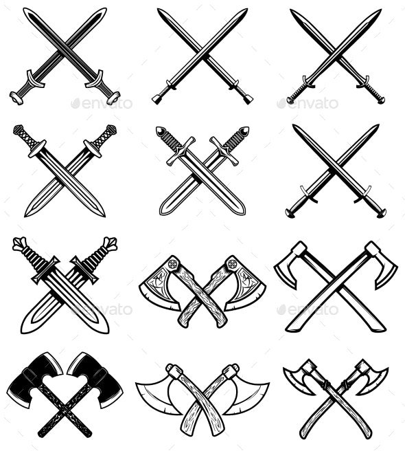 Set of Ancient Weapons - Miscellaneous Vectors