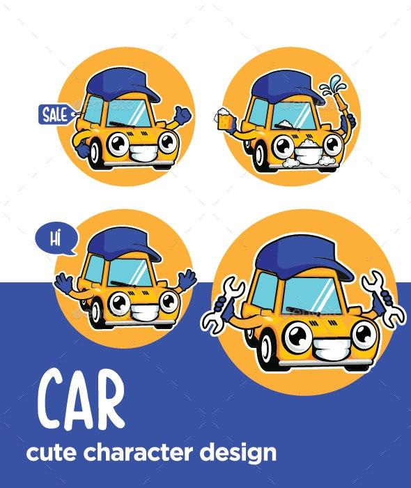 Car Mascot Character Cartoon - Miscellaneous Characters
