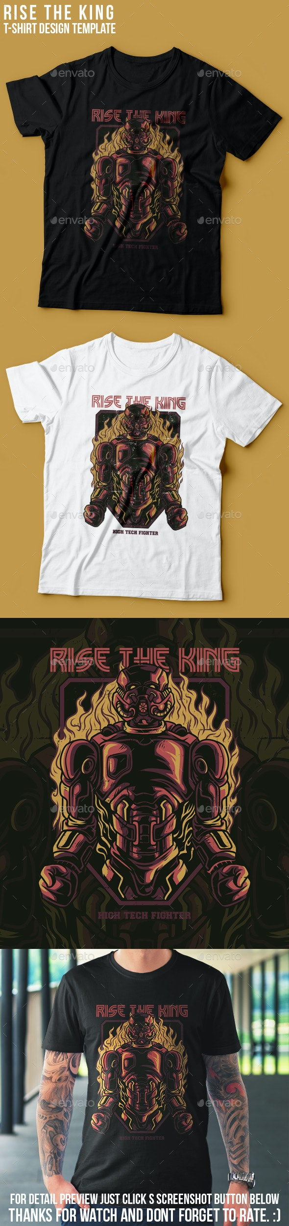 Rise the King T-Shirt Design - Events T-Shirts