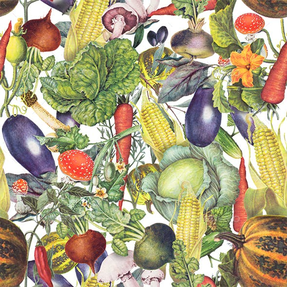 Pattern with Vegetables