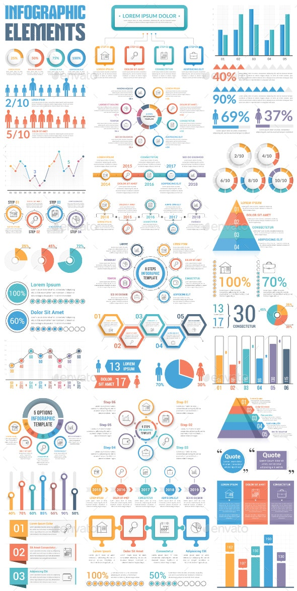 Infographic Elements Bundle - Infographics