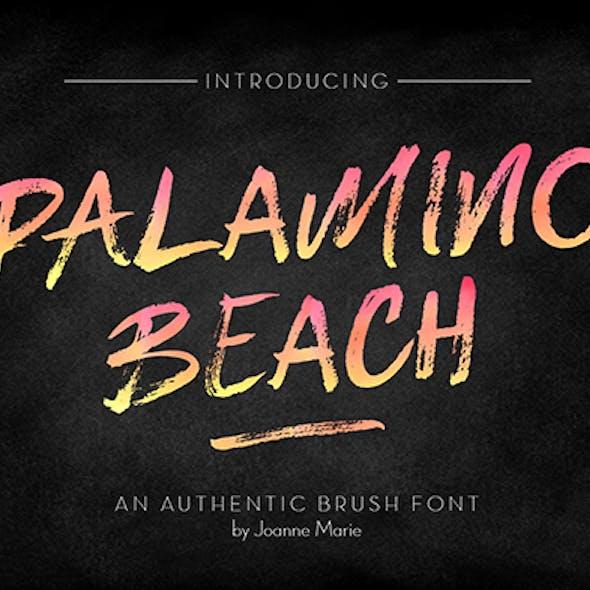 Palamino Beach Brsuh Font