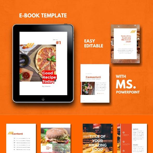Recipe Food eBook PowerPoint Template