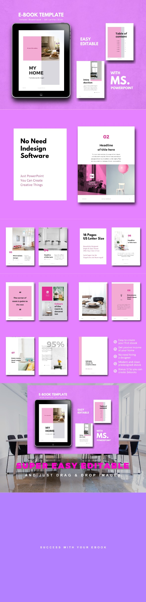 Home Interior eBook PowerPoint Template - Miscellaneous PowerPoint Templates