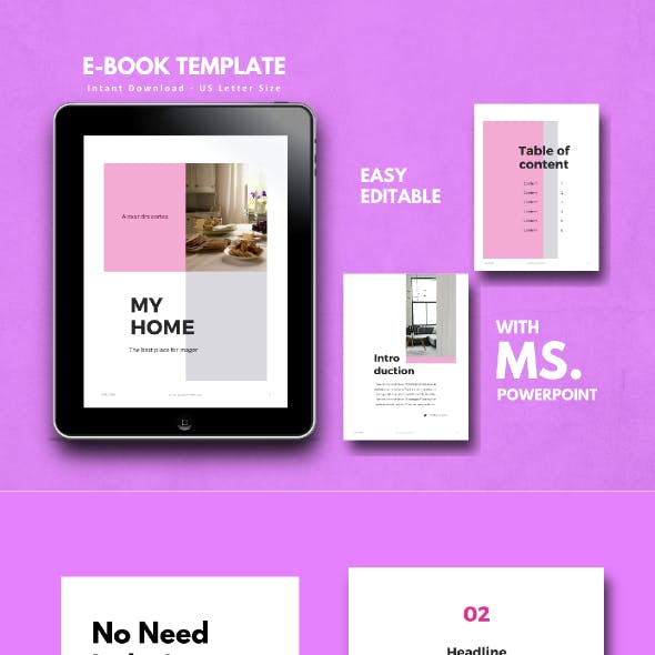 Home Interior eBook PowerPoint Template