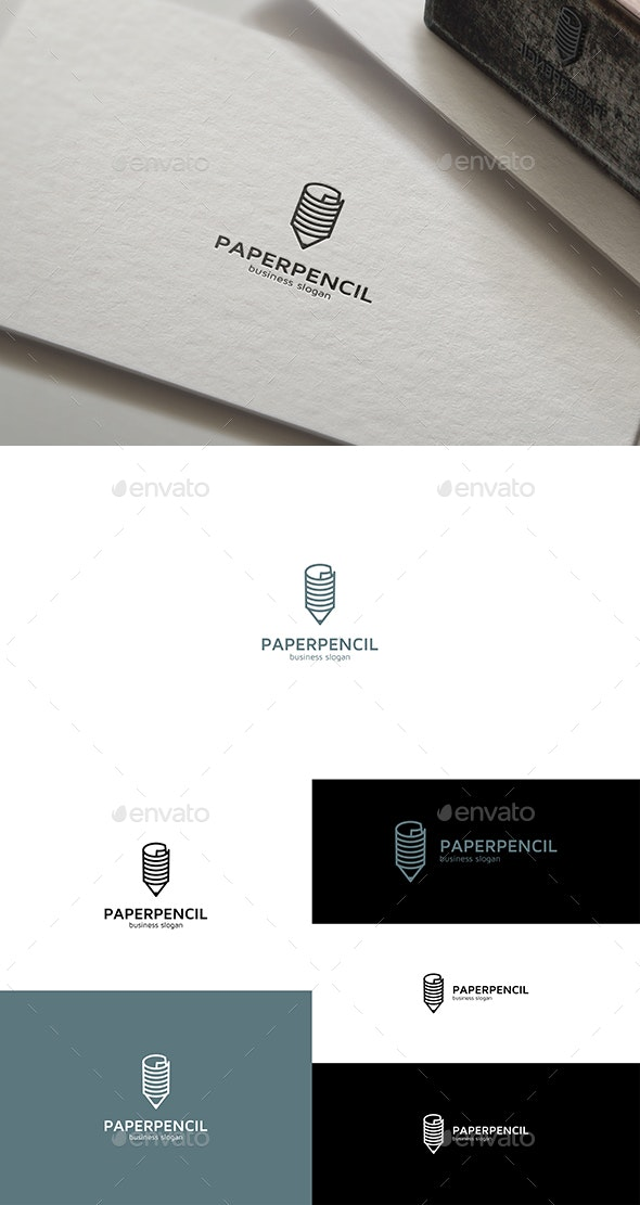 Paper Pencil Logo - Objects Logo Templates