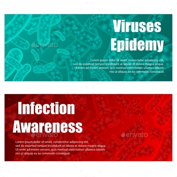 Red and Blue Health Banners - Health/Medicine Conceptual