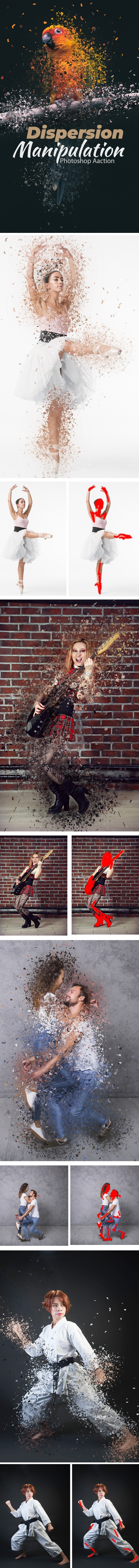 Dispersion Manipulation Photoshop Action - Photo Effects Actions