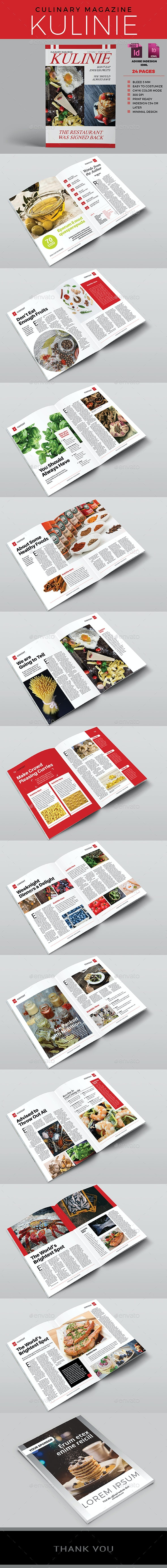 Culinary and Multipurpose Magazine - Kulinie - Magazines Print Templates