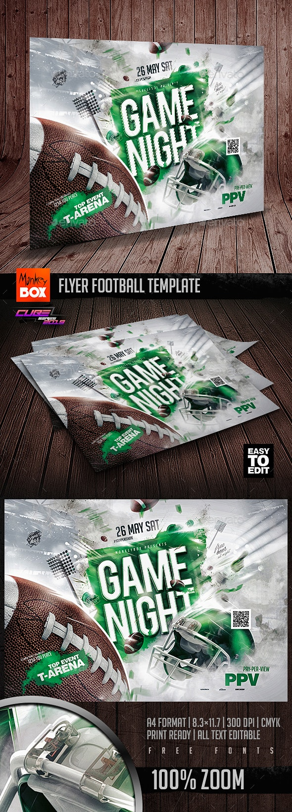 Flyer Football Template - Sports Events