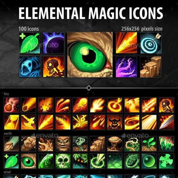 Elemental Magic Icons