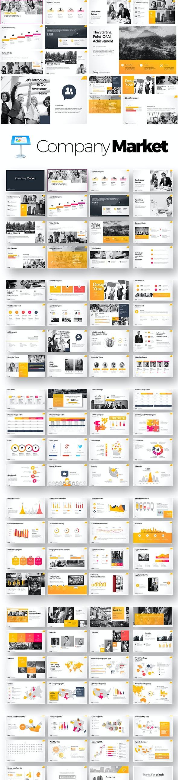 Company Market Keynote Templates - Keynote Templates Presentation Templates