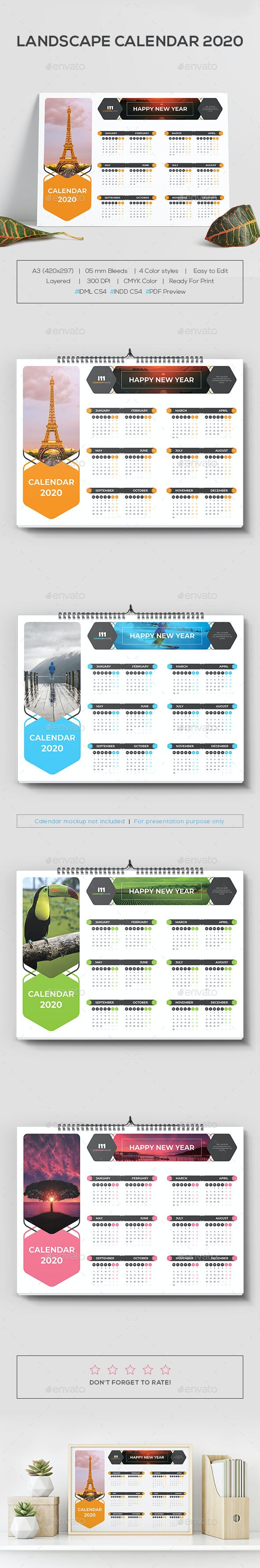 Landscape Calendar 2020 - Calendars Stationery
