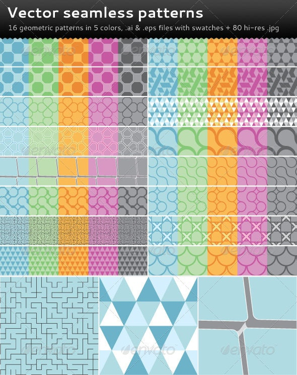Vector Seamless Patterns - Patterns Decorative