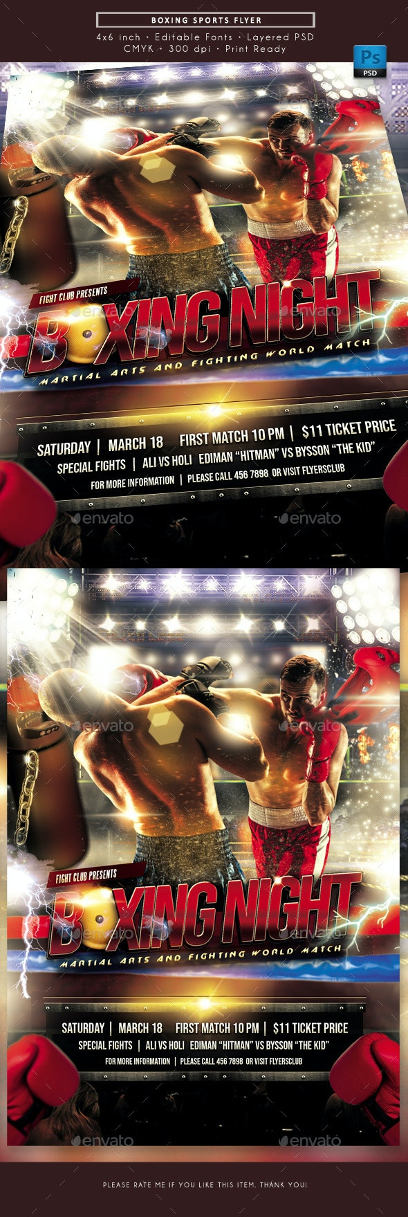 Boxing Sports Games Flyer - Sports Events