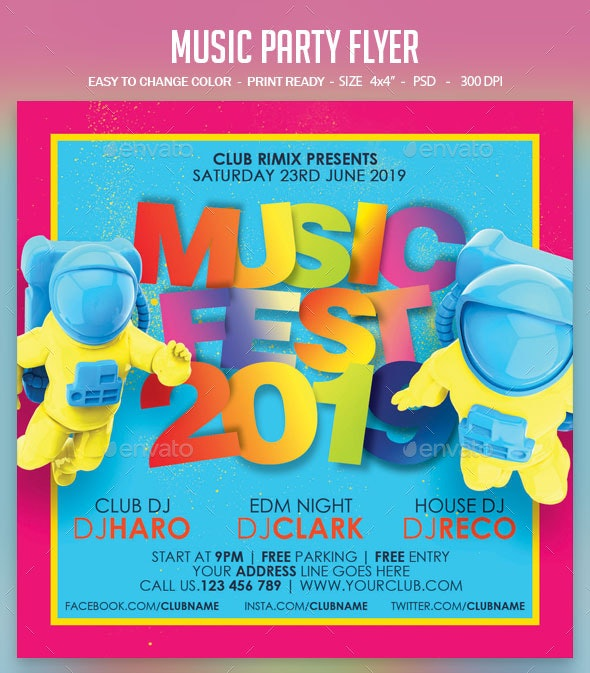 Music Party Flyer - Clubs & Parties Events