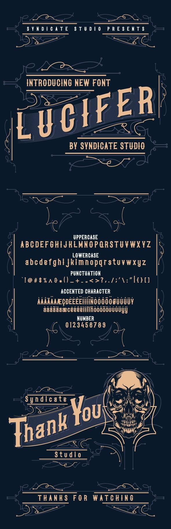 LUCIFER - Gothic Decorative