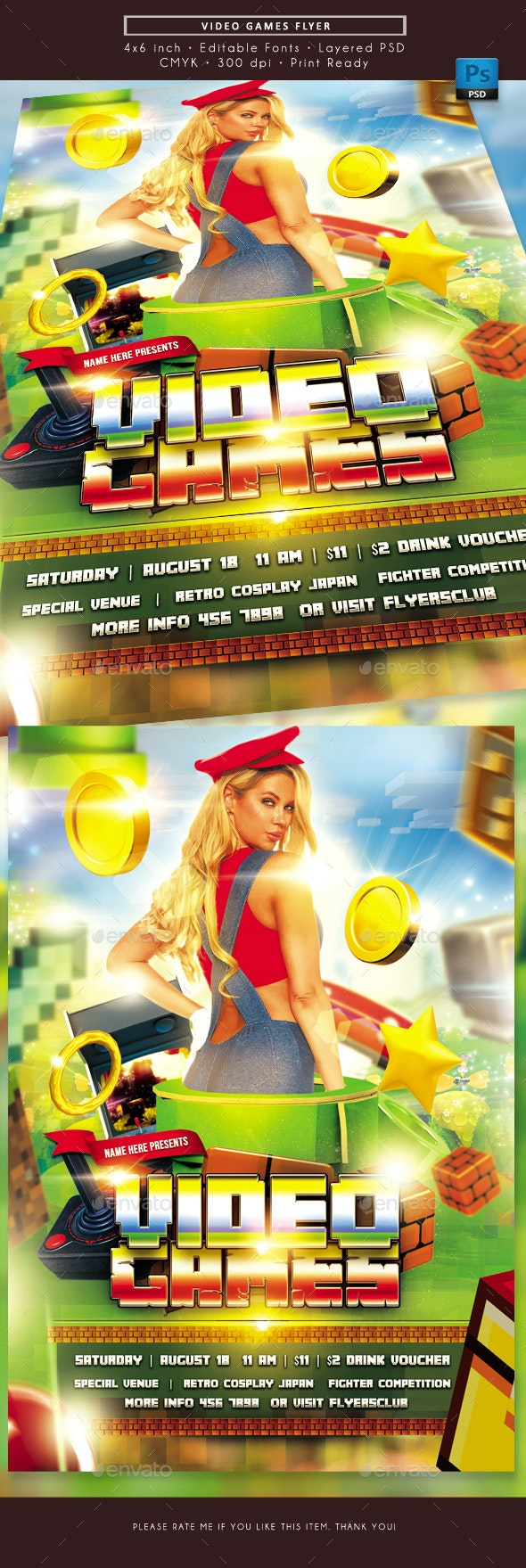 Video Games Flyer - Miscellaneous Events