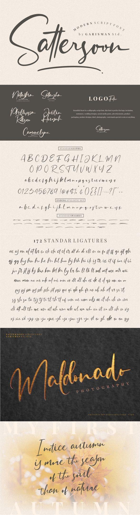 Sattersoon - Hand-writing Script