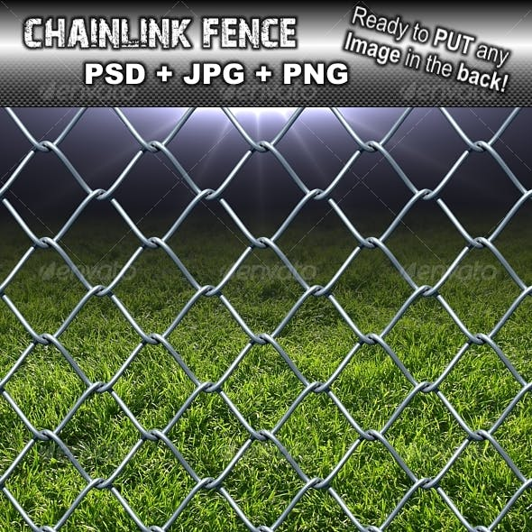 Chain link fence metal style texture tileable