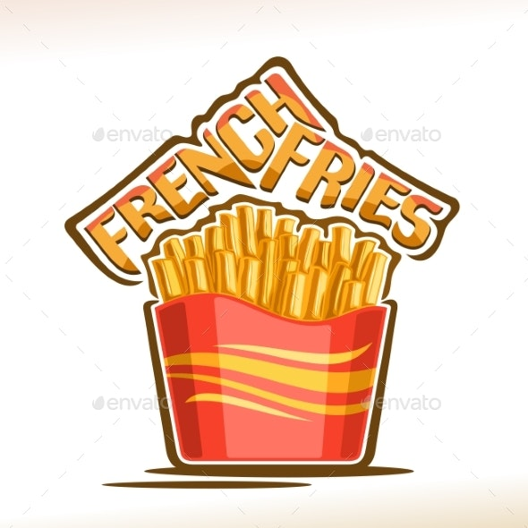 Vector Logo for French Fries - Food Objects