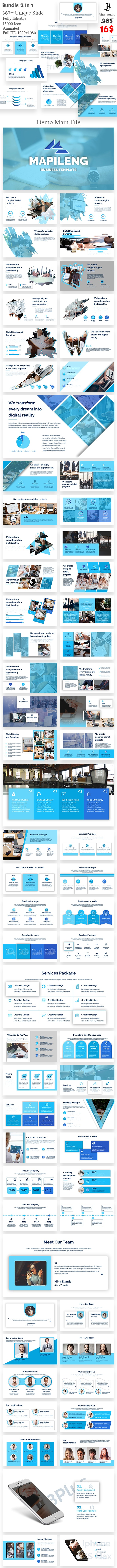 Bundle Business 2 in 1 Noxton PowerPoint Template - Business PowerPoint Templates