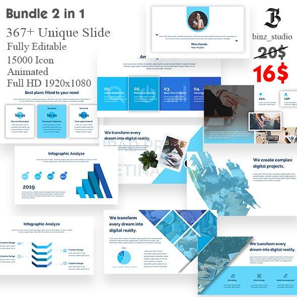 Bundle Business 2 in 1 Noxton Google Slide Template