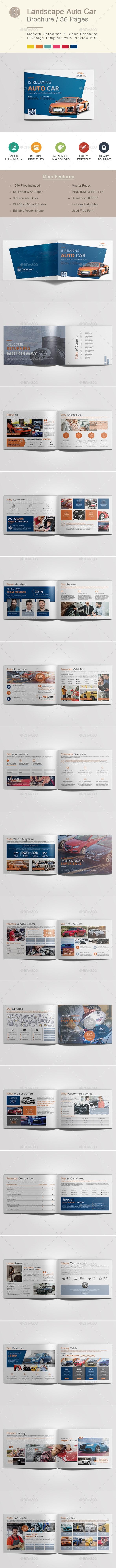 Landscape Auto Car Brochure - Corporate Brochures