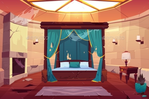 Bedroom in Castle or Palace - Buildings Objects