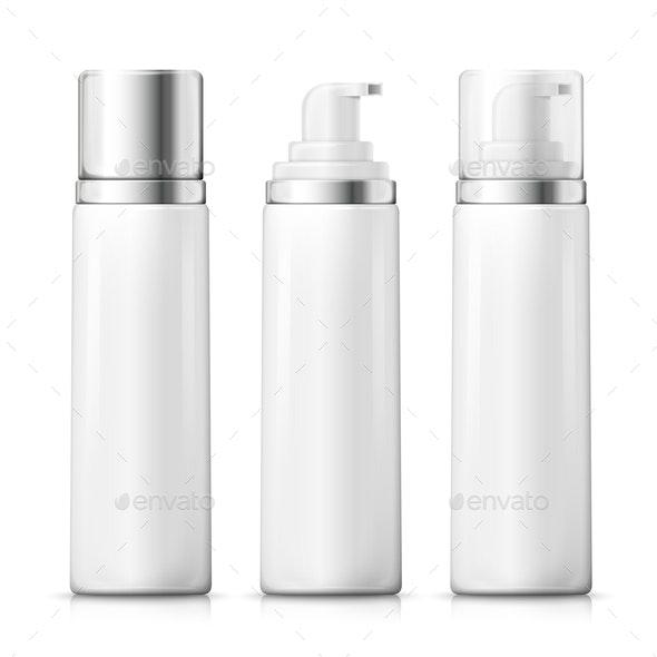 Vector Set of Foam Bottles - Miscellaneous Vectors