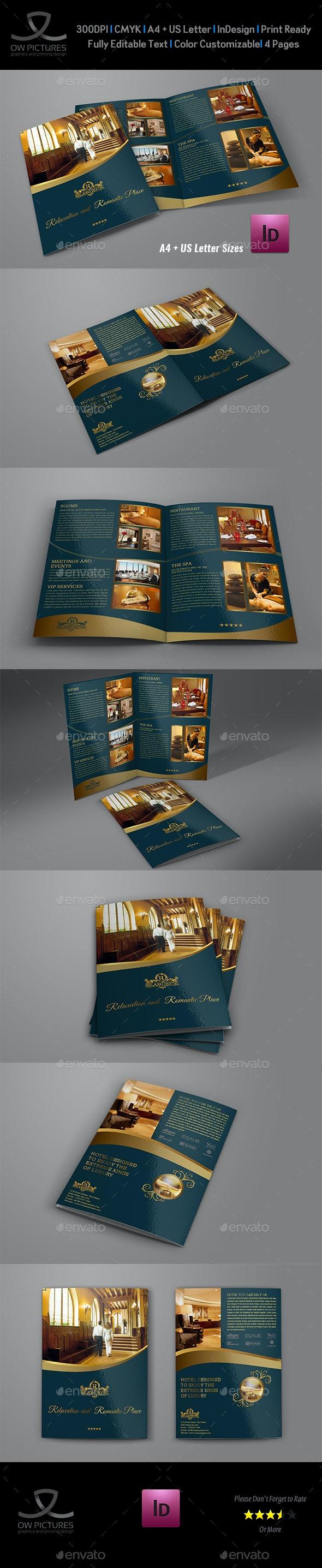 Hotel and Motel Bi-Fold Brochure Template Vol.2 - Brochures Print Templates