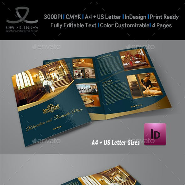 Hotel and Motel Bi-Fold Brochure Template Vol.2