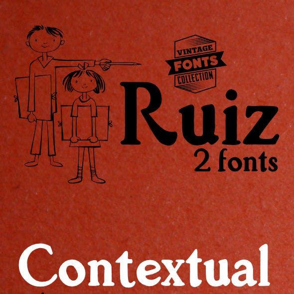 Ruiz - 2 vintage fonts