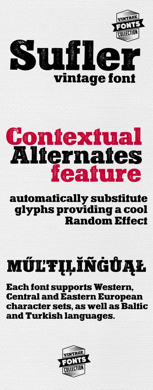 Sufler 2 Vintage Fonts By Redbat Graphicriver