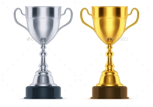 Silver and Golden Cups - Sports/Activity Conceptual