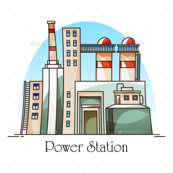 Thermal Power Plant Building or Factory - Industries Business