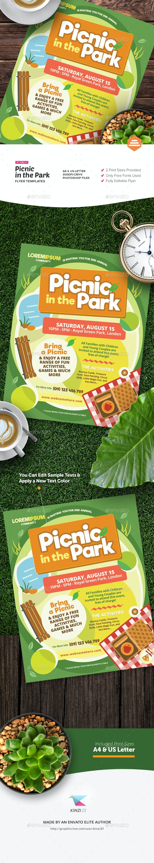 Picnic in the Park Flyer Template - Miscellaneous Events