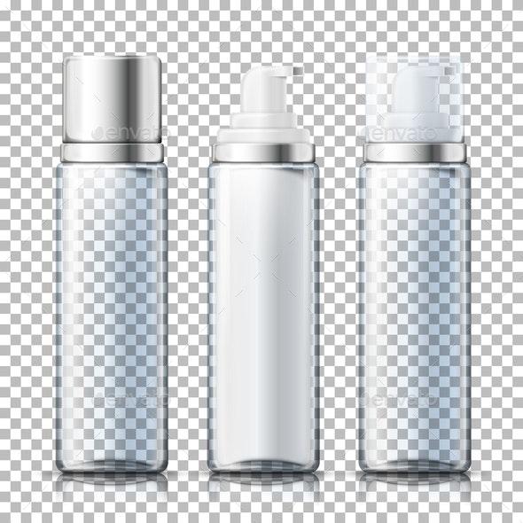 Vector Foam Bottles - Man-made Objects Objects