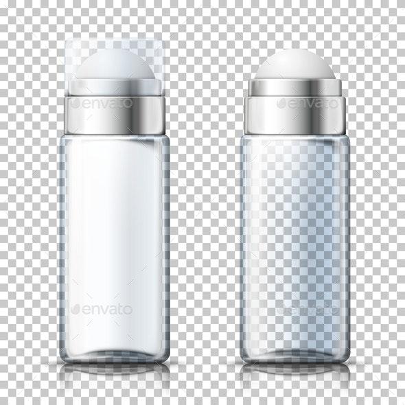 Vector Transparent Deodorant Bottles - Miscellaneous Vectors
