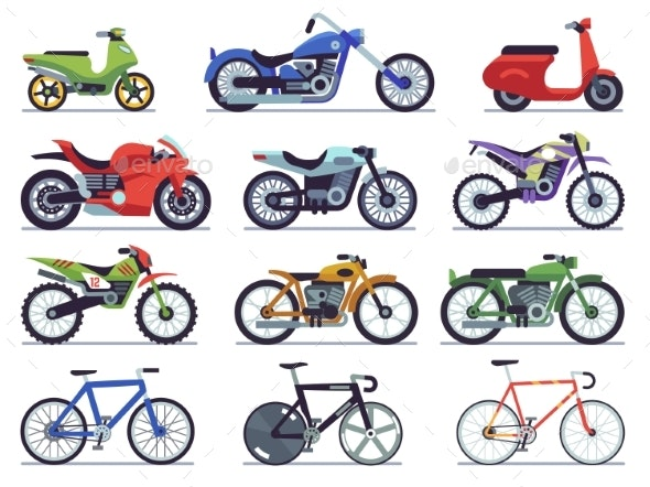 Motorcycle Set - Man-made Objects Objects