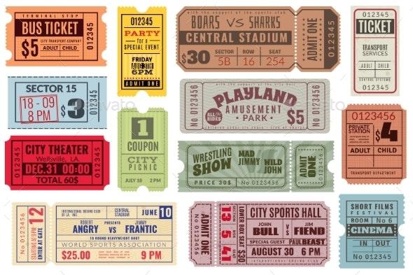 Retro Tickets - Miscellaneous Vectors