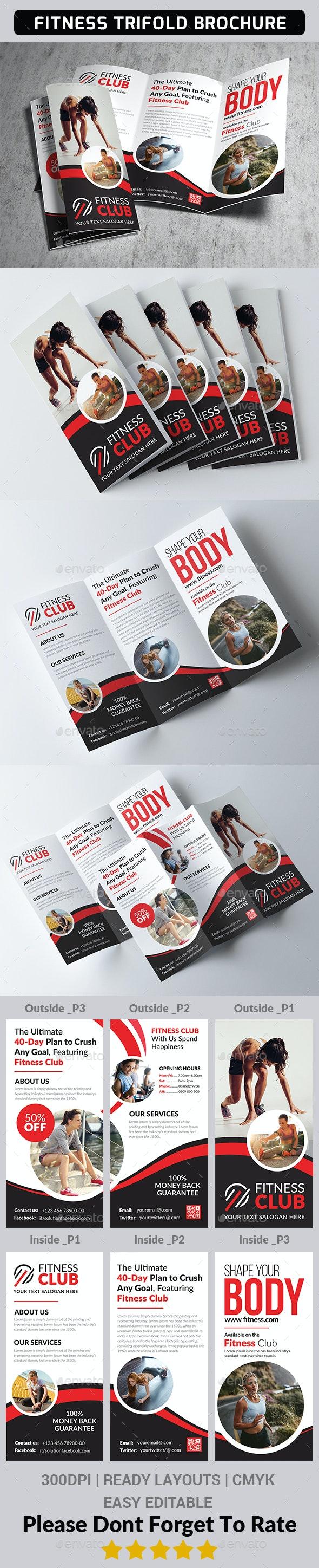 Fitness Tri Fold Brochure - Corporate Brochures