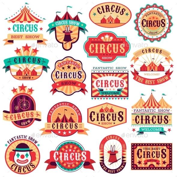 Circus Emblems - Miscellaneous Vectors