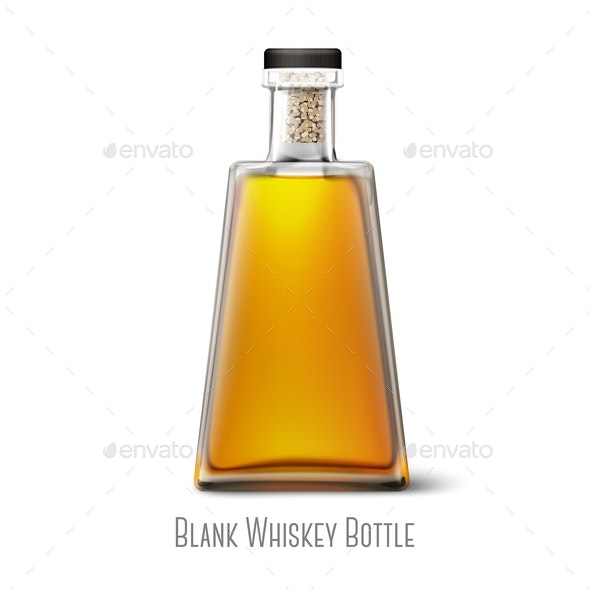 Blank Whiskey Bottle - Miscellaneous Vectors