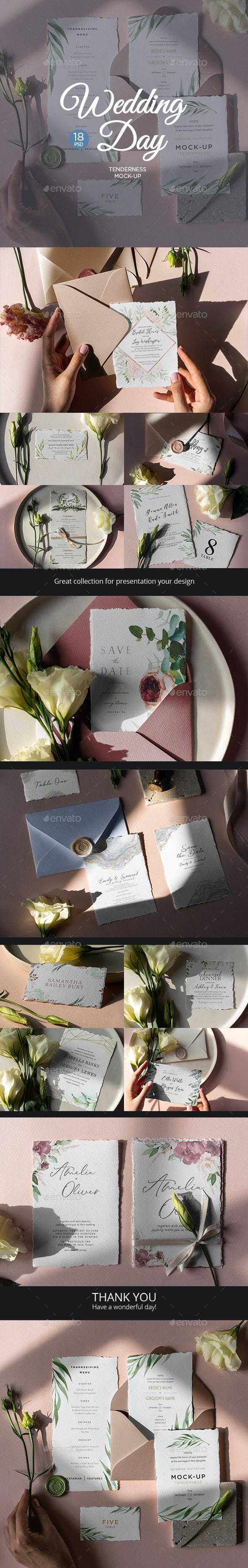 Wedding Day Mock-Up Tenderness - Stationery Print