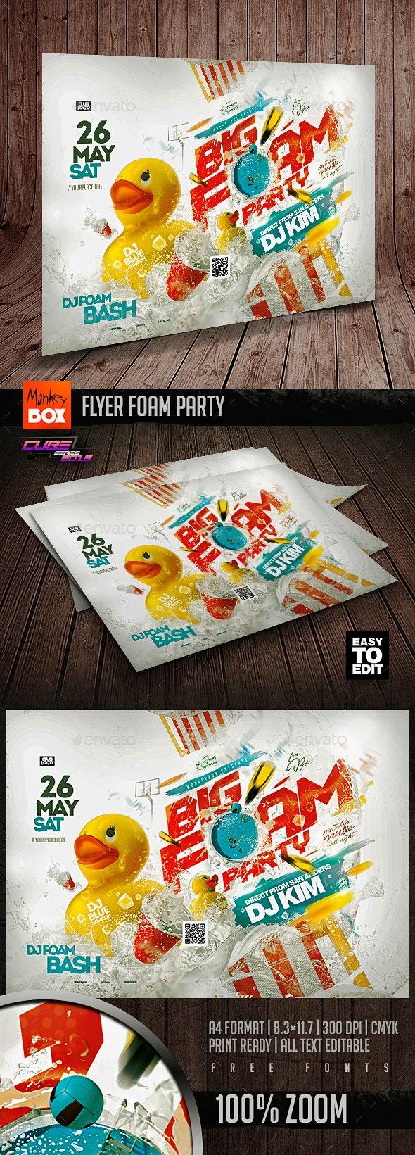 Flyer Foam Party - Flyers Print Templates