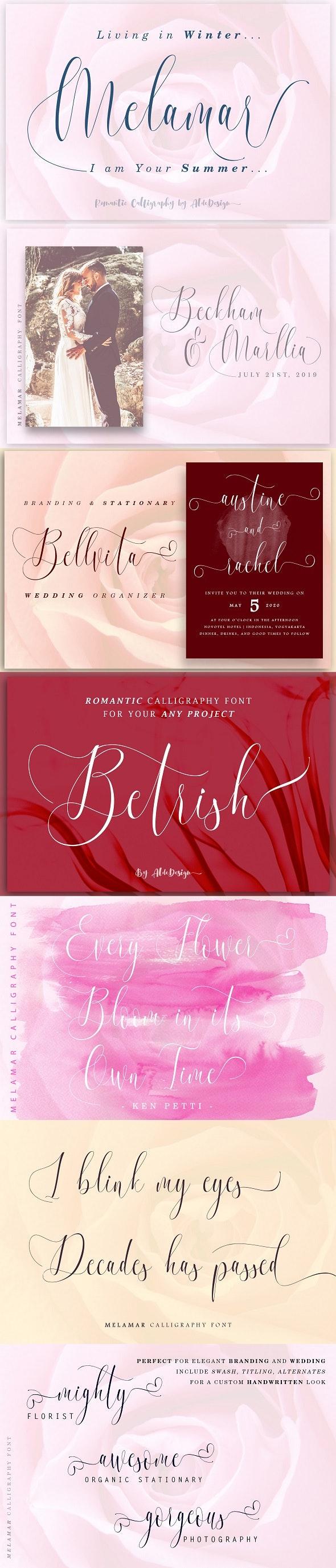 Melamar Calligraphy Font - Calligraphy Script
