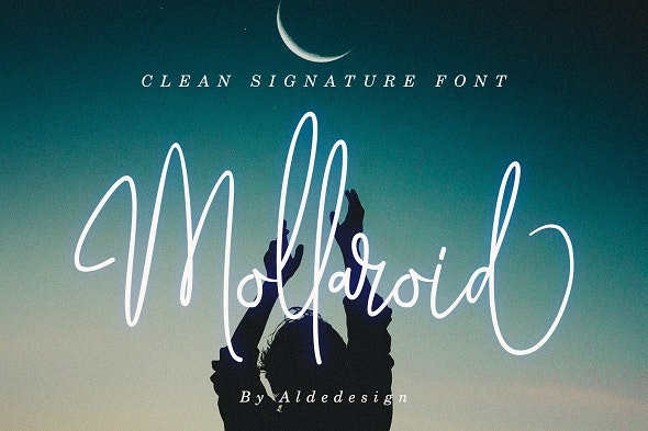 Mollaroid - Signature Font - Handwriting Fonts