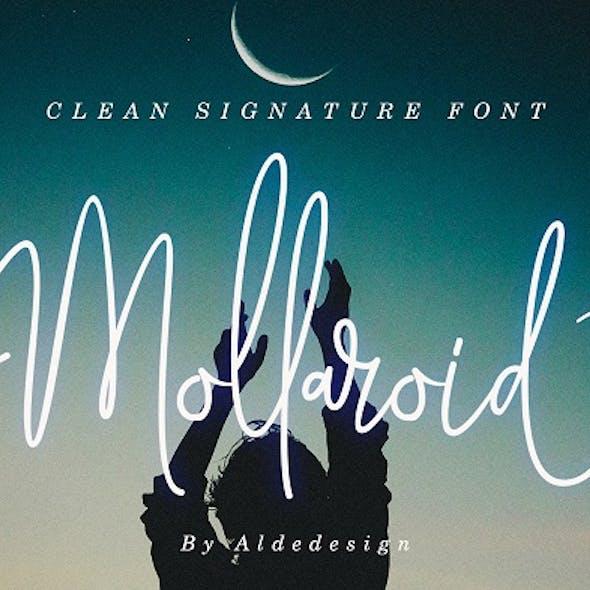 Mollaroid - Signature Font